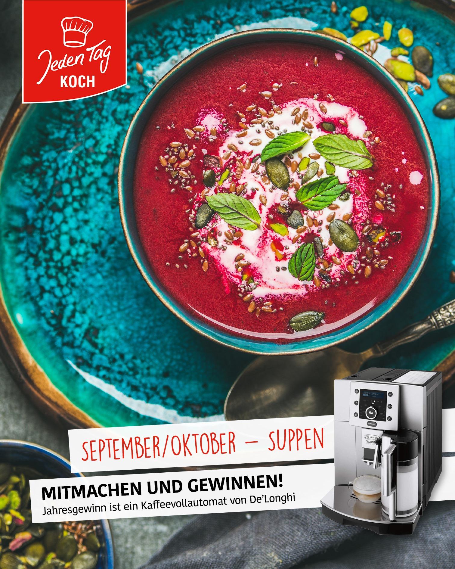 Jeden Tag Suppen-Gewinnspiel September/Oktober 2020