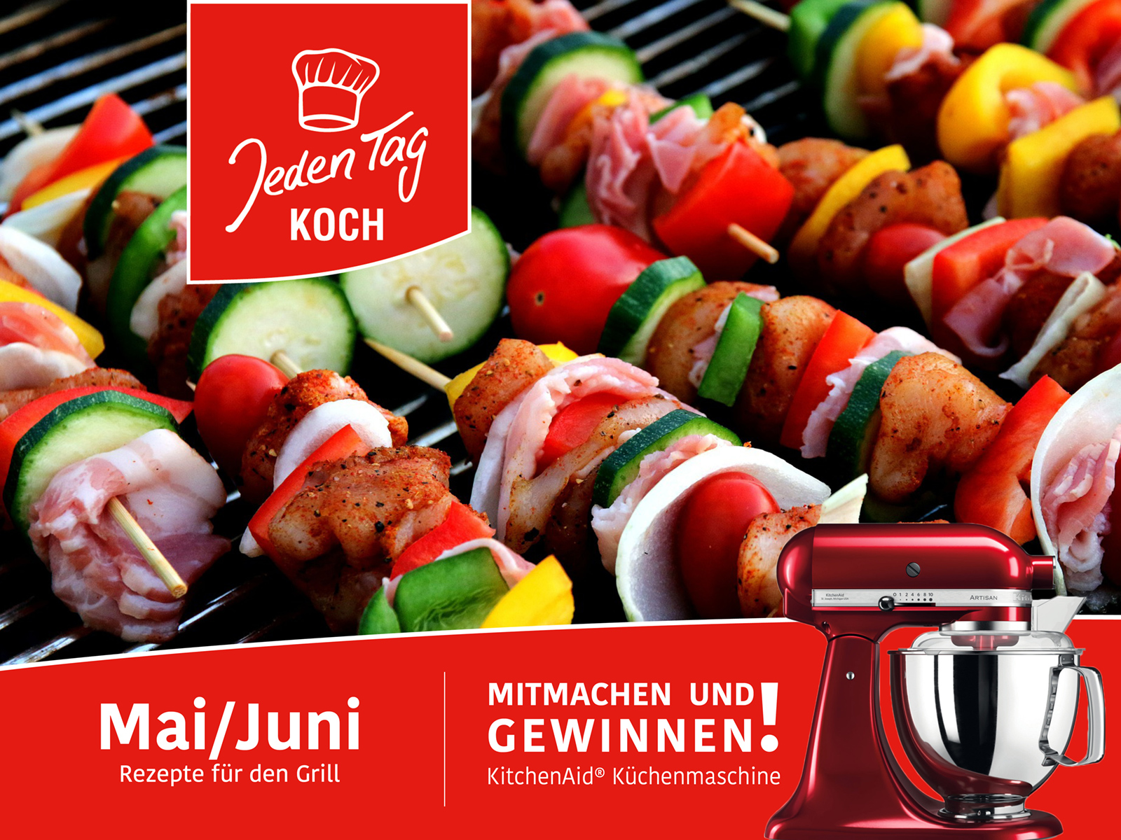 Jeden Tag Koch Gewinnspiel – Mai/Juni
