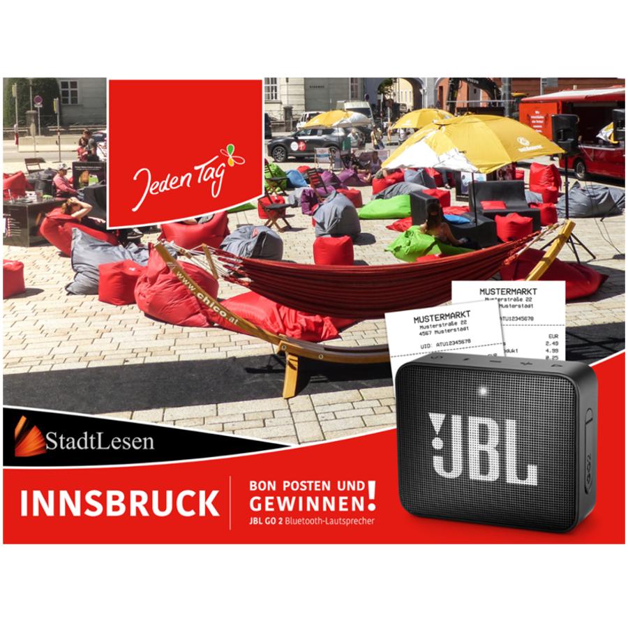 Jeden Tag StadtLEsen Gewinnspiel Innsbruck