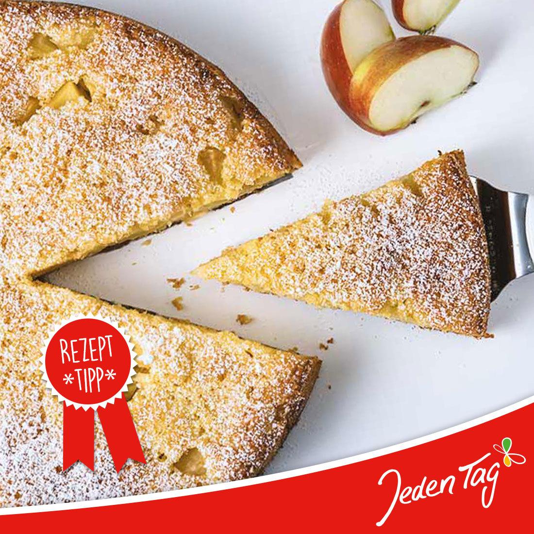 Jeden Tag Rezept-Tipp: fruchtiger Apfel-Eierlikör-Kuchen