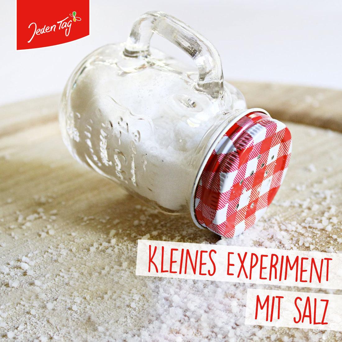 Jeden Tag Tipp: Kleines Experiment mit Salz