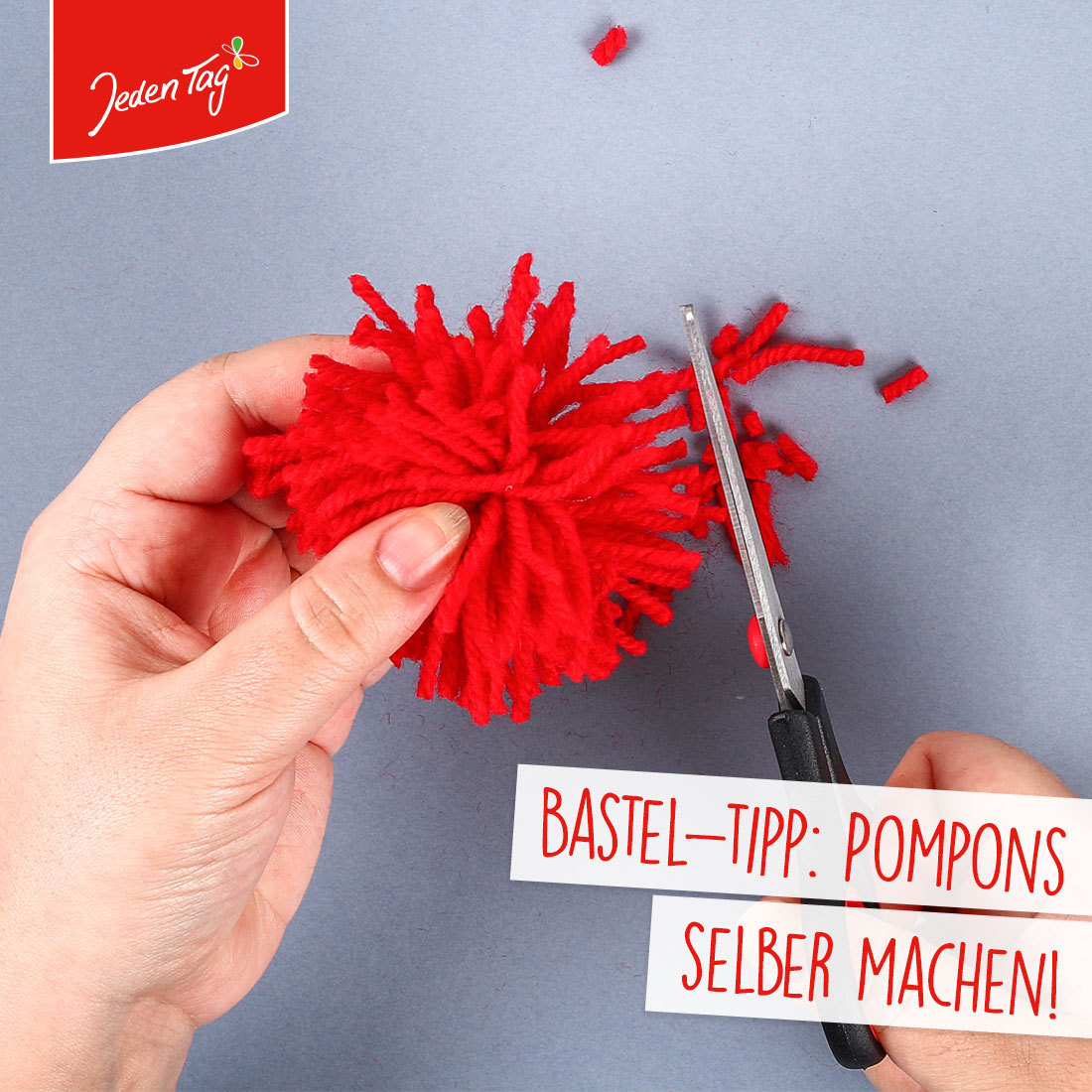 Jeden Tag Bastel-Tipp: Pompons selber machen