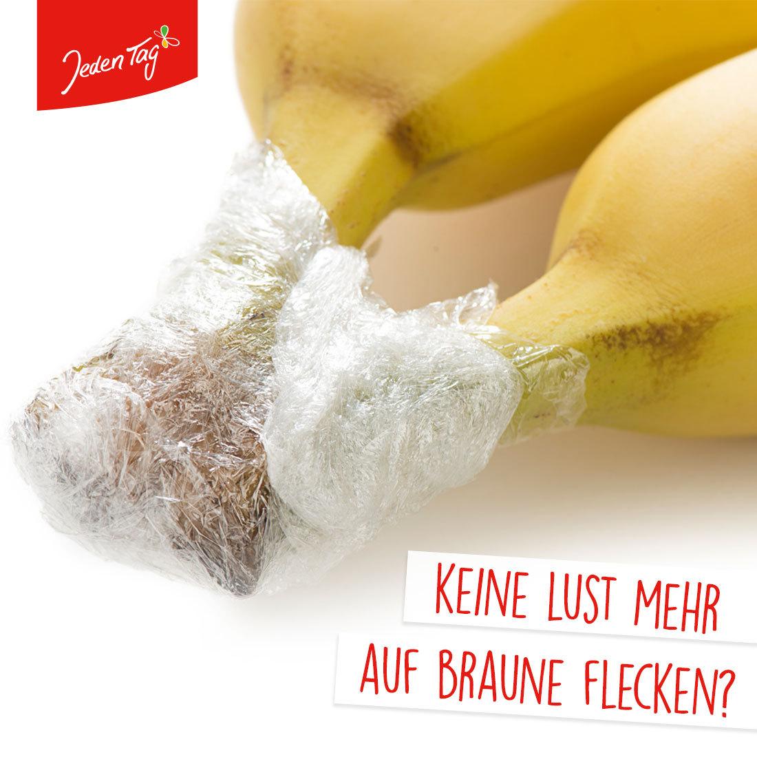 Jeden Tag-Hack: So bleiben Bananen länger frisch