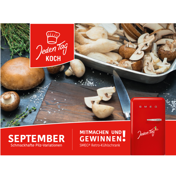Jeden Tag Koch Gewinnspiel September